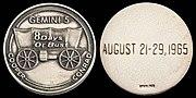 Gemini 5 Flown Silver Fliteline Medallion