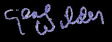 Firma di Gene Wilder