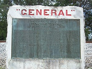 Great Locomotive Chase - The General Monument near Ringgold, Georgia
