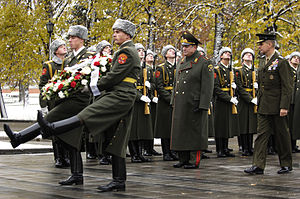 Tomb of the Unknown Soldier (Moscow) - Image: General Pace at Tomb of the Unknown Soldier, Moscow