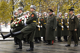 154th Preobrazhensky Independent Commandant's Regiment - Image: General Pace at Tomb of the Unknown Soldier, Moscow