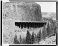 General view of viaduct. - Golden Gate Viaduct, Lake, Teton County, WY HAER WYO,20-YELNAP,2-5.tif