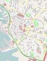 Genova center map OSM 12000 scale.png