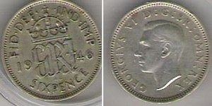 "Bit (money) - A 1946 ""sixpenny bit"" of George VI."