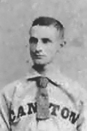 George Bausewine - Bausewine in 1887 with Canton of the Ohio State League