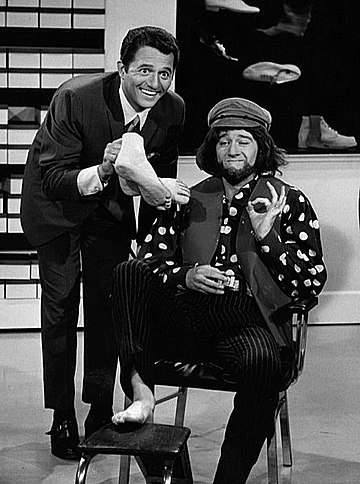 Greco and George Carlin in a skit from Away We Go, 1967 George Carlin Buddy Greco Away We Go 1967.JPG