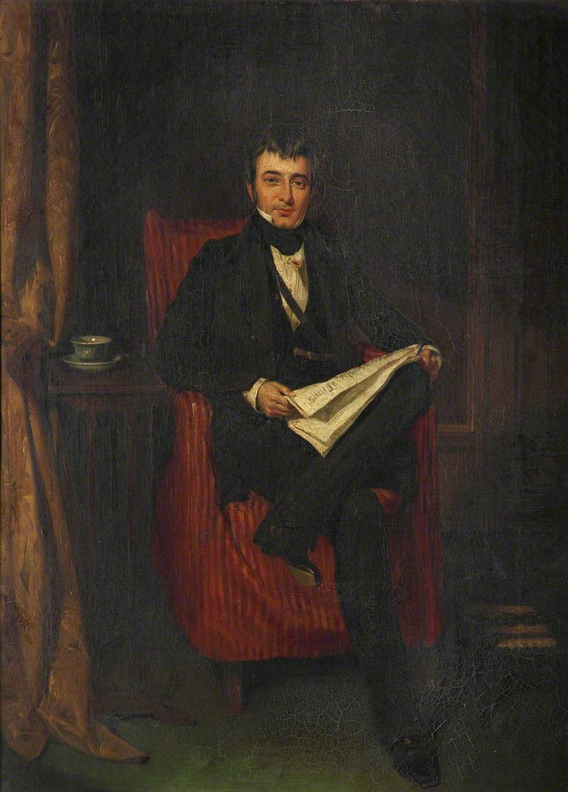 Джордж Хейтер (1792-1871) - капитан Уильям Стэнвей Паркинсон (1769–1838) - BHC2935 - Королевские музеи Гринвич.
