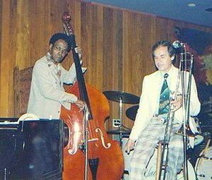 Urbie Green - Jazzmen George Morrow and Urbie Green at the Village Jazz Lounge in Walt Disney World (photo by Laura Kolb)