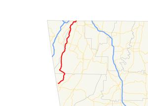 Georgia State Route 157 - Image: Georgia state route 157 map