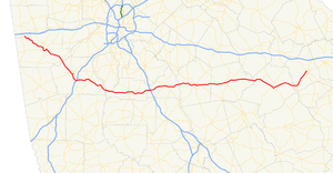 Georgia State Route 16 - Image: Georgia state route 16 map