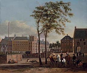 The Plaats in The Hague, with the Groene Zoodje and the Gevangenpoort