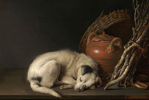 Gerrit Dou (Dutch, 1613–1675), Sleeping Dog, 1650. Oil on panel