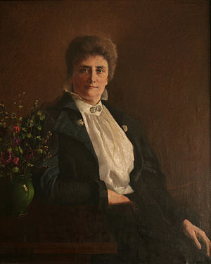 Gina Krog - Gina Krog painted by Asta Nørregaard. The painting is owned by the Norwegian Association for Women's Rights