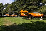Gioia Del Colle preserved MB-326, T-33 and F-84F (26939602284).jpg