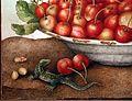 Giovanna garzoni, una ciotola di ciliegie, un cetriolo, una lucertola e tre niccioli, 03.jpg