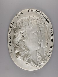 Giovanni Bonazza - Medallion with Portraits of Flavius Adaloald, King of Italy, and his Mother Queen Theolinda - Walters 27487.jpg