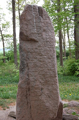 Glavendrup stone - One of the sides of the stone.