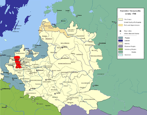 Gniezno Voivodeship - Gniezno Voivodeship in the Polish-Lithuanian Commonwealth in 1768.