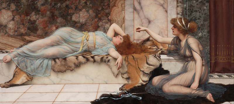 File:Godward, John William - Mischief and Repose - Google Art Project.jpg