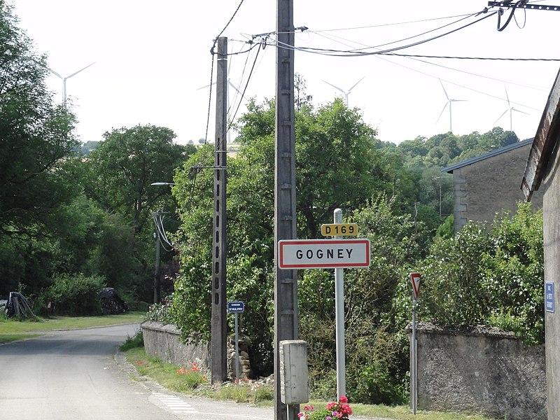 Gogney (M-et-M) city limit sign