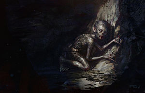 Gollum - An artist's impression of Gollum, by Frederic Bennett.