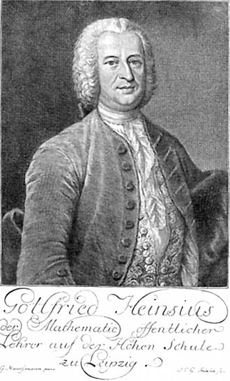 Gottfried Heinsius - Gottfried Heinsius, engraving, 1754