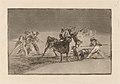 Goya - Palenque de los moros hecho con burros para defenderse del toro embolado.jpg