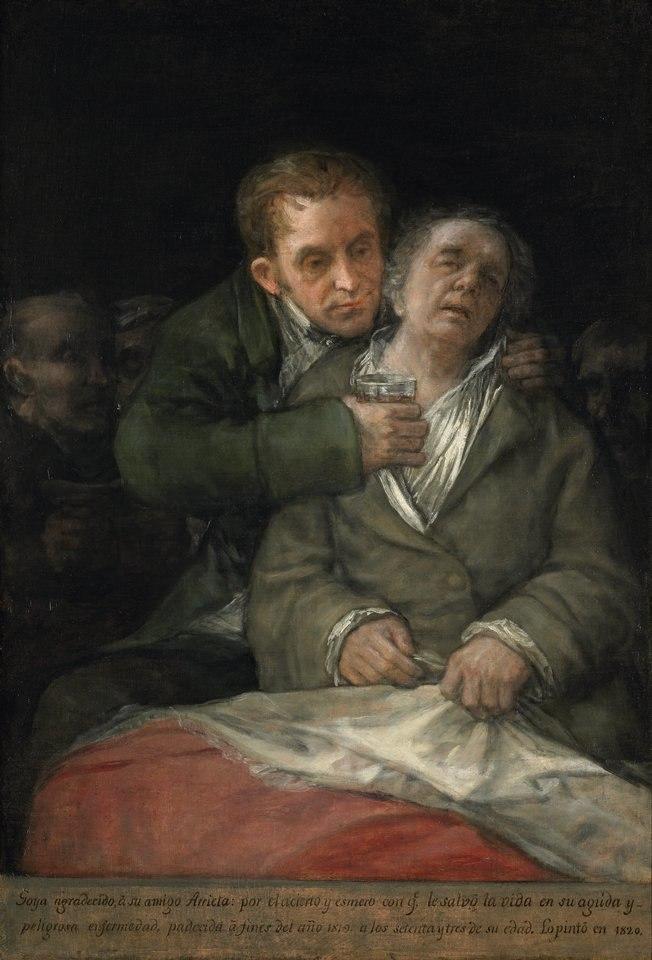 Goya atendido por Arrieta