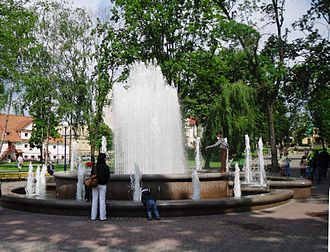 Grodno - Fountain in Central Park