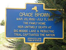Grace Brown's family home at Otselic, NY