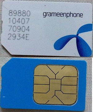 Grameenphone - Typical Grameenphone SIM Card