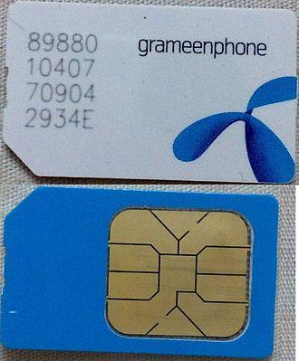 Grameenphone - Typical Grameenphone SIM Card