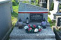Grave of Kazimierz Nowakowski with national colors decorated (2020)a.jpg
