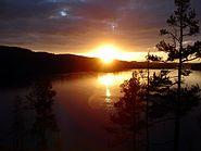 Great sunset on lake foxen (july 2005, 25)