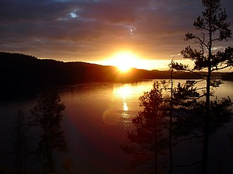 Värmland - Image: Great sunset on lake foxen (july 2005, 25)