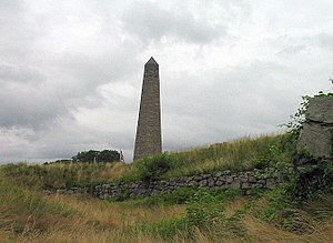 Groton Monument - The monument, erected in 1830, commemorates the American troops massacred by the British following the surrender of Fort Griswold in the Battle of Groton Heights during the American Revolution.