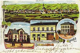 Gruß aus Biebelsheim, 1905 picture postcard.