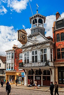 Guildford county town of Surrey in England