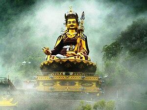 Padmasambhava - Image: Guru Rinpoche in mist 2