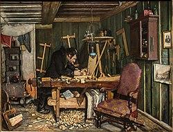 Gustav Wentzel: A Carpenter's Workshop
