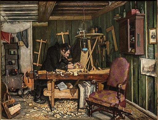Gustav Wentzel - A Carpenter's Workshop - Et snekkerverksted - IMG 9726aaq (cropped)
