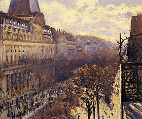 Boulevard des Italiens. Painting by Gustave Caillebotte