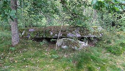 Hällkista, Björkevik i vara, 5.8 meter lång.