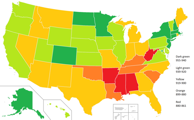List of U.S. states and territories by Human Development Index ...