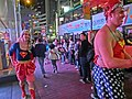 HK Causeway Bay night Ruby Sevens fans Hennessy Road visitors 23-Mar-2013 superman.JPG