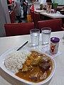 HK SW 上環 Sheung Wan 皇后大道中 367-375 Queen's Road Central shop 蟠龍粉麵茶餐廳 Pan Dragon Restaurant dinner Curry rice beef belly potato August 2019 SSG 01.jpg