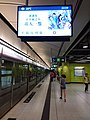 HK TKL 調景嶺站 Tiu Keng Leng MTR Station interior night July 2019 SSG 06.jpg