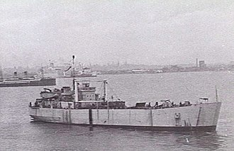 HMAS Labuan (L3501) - HMAS Labuan leaving Williamstown, Victoria for Macquarie Island in May 1949