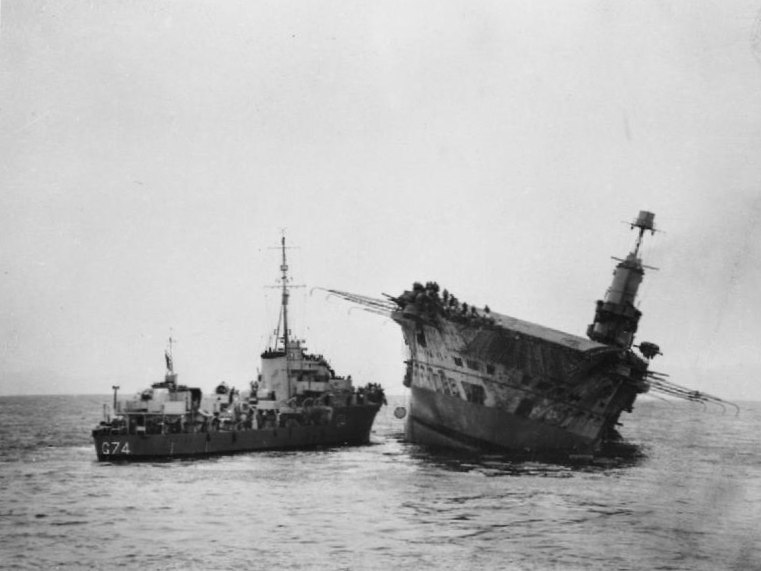 HMS Ark Royal sinking 2