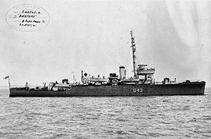 HMS Bideford (L43) - Image: HMS Bideford 1941 IWM FL 2040